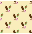 icecream seamless pattern vector image