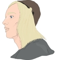 Medieval young man vector image