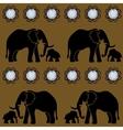 Seamless Gems Elephant Template vector image