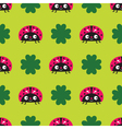 Seamless ladybugs pattern vector image
