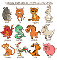 Set of Isolated Chinese Zodiac Animals Signs vector image