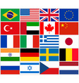 Set of popular country flags vector image