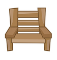 wood Chair vector image