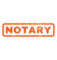 Notary Rubber Stamp vector image