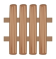 Wooden fence icon cartoon style vector image