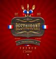 Vintage wooden sign for French restaurant vector image