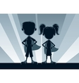 Superkids Silhouettes vector image