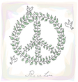 Sketch style peace dove symbol texture background vector image vector image