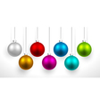 Christmas colored balls vector image
