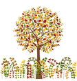 Colorful Autumn Tree and Herb Background vector image