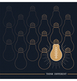 Vintage bulb think different vector image