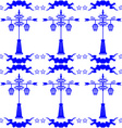 Seamless pattern with streetlight in Dutch tile vector image