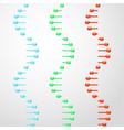 RNA abstract glassy molecules vector image vector image