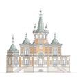 Orthodox church facade vector image vector image