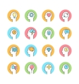 human mind brainstorming thinking line flat icon vector image