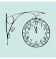 Street clock with a dial of midnight New year vector image