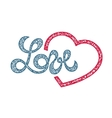 Love lettering stamp vector image