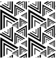Triangle black white seamless pattern vector image