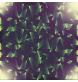 abstract geometric glow shiny green dark vector image