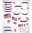 American flag decoration elements vector image