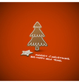 christmas card ginger breads vector image