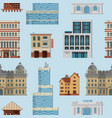 different city public buildings houses set vector image