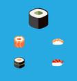 flat icon sashimi set of oriental gourmet vector image