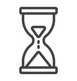 hourglass line icon web and mobile busy sign vector image