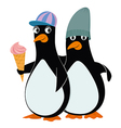 penguins and ice cream vector image