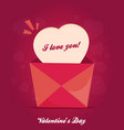 valentines day flat pink background vector image