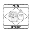 Fries and ketchup vector image vector image