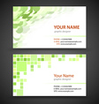 Abstract creative business cards set template vector image vector image