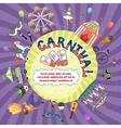 carnival invitation design vector image