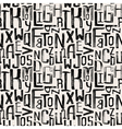 Seamless vintage style pattern grunge letters vector image