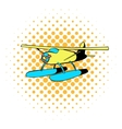 Hydroplane icon comics style vector image