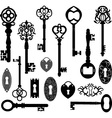 Keys Silhouette vector image