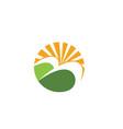 agriculture landscape logo template vector image