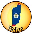 button Belize vector image