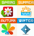 Four Seasons Paper Symbols vector image