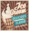 ice cream in retro style vector image