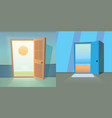 open door collection set of cute doors vector image