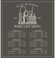 Wine menu price vector image