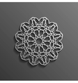 Islamic 3d on dark mandala round ornament vector image