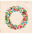 circular flower2 vector image