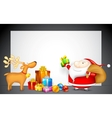 Santa with Gift for Christmas vector image