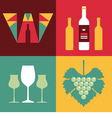 Wine in Flat Design Style vector image