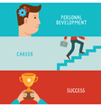 business success concepts in flat style vector image vector image