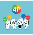 4P Marketing mix cartoon vector image vector image