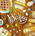 baking beautiful hand-draw vector image vector image