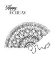 lace ornament fan vector image